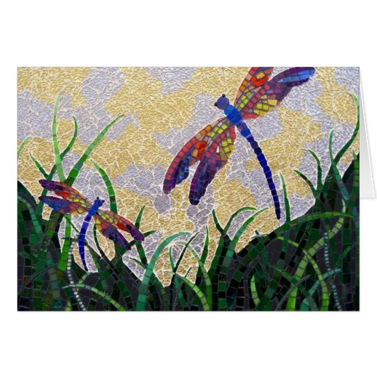 Dragonflies notecard