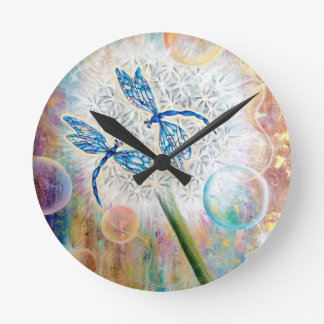 Dragonflies of Eden Wall Clock