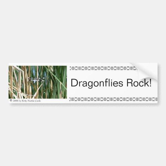 Dragonflies Rock! Bumper Sticker