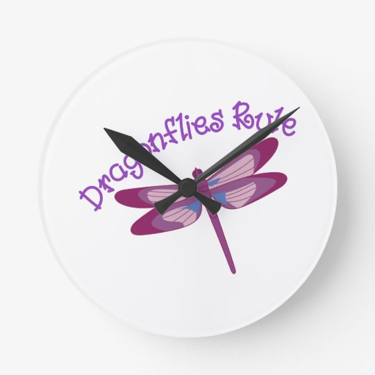 Dragonflies Rule Round Clock