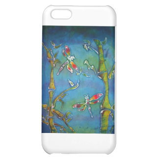 Dragonflies with bamboo batik iPhone 5C cases