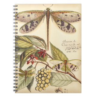 Dragonflies with Leaves and Fruit Notebook