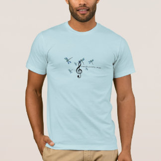 dragonfly1, treble_cleff, dragonfly1, dragonfly... T-Shirt