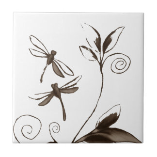 Dragonfly Abstract Tile