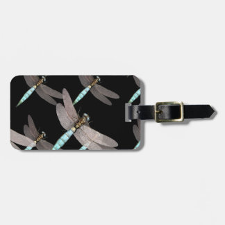 Dragonfly Air Force on Black Luggage Tag