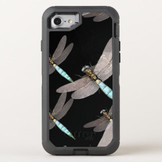 Dragonfly Air Force on Black OtterBox Defender iPhone 8/7 Case