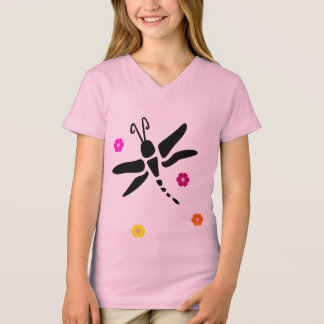 dragonfly and flowers T-Shirt