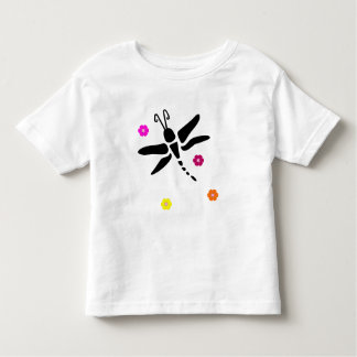 dragonfly and flowers toddler T-Shirt