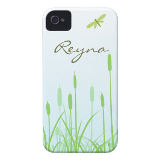 Dragonfly and Grass iPhone 4 case