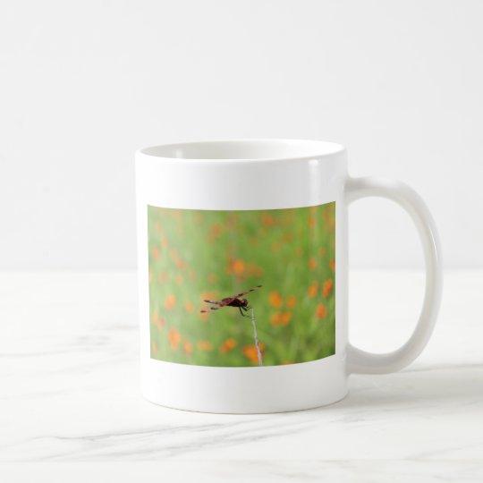 Dragonfly and Orange Flowers Coffee Mug
