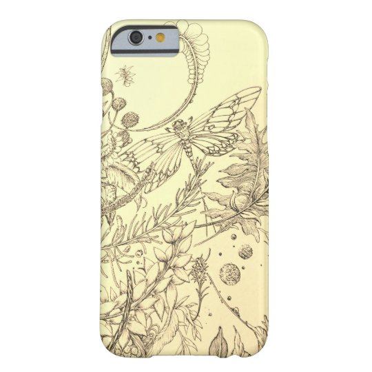 Dragonfly and plant barely there iPhone 6 case