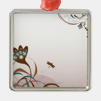 Dragonfly and Plants Christmas Ornament