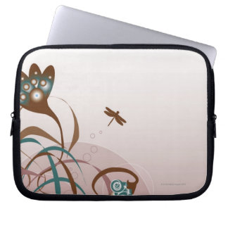 Dragonfly and Plants Laptop Sleeve