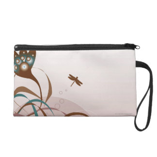 Dragonfly and Plants Wristlet