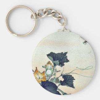 Dragonfly and pumpkin by Ogata, Gekko Ukiyoe Key Ring