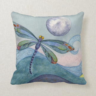 Dragonfly and the Full Moon Cushion