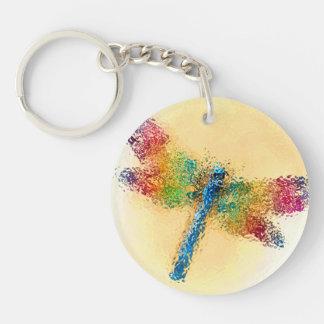 Dragonfly Art Key Ring