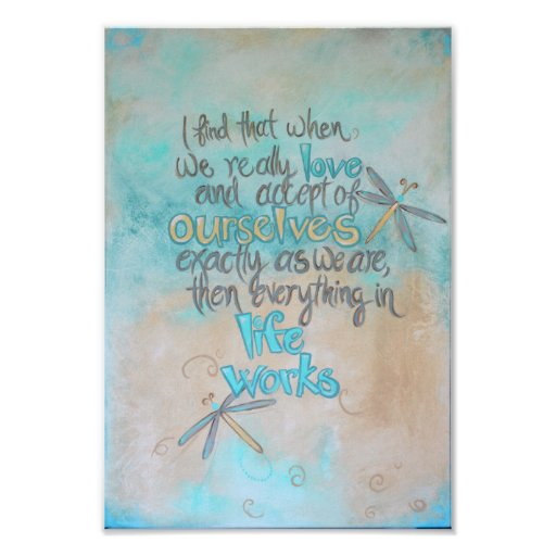 Dragonfly Art - Life Works Quote | Poster