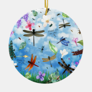 dragonfly art nola kelsey christmas ornament
