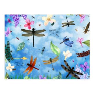 dragonfly art nola kelsey postcard