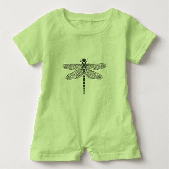 Dragonfly baby romper baby bodysuit