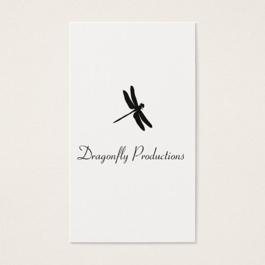 Dragonfly (black) business card