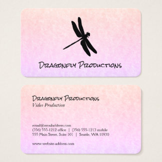 Dragonfly (black) chic business card