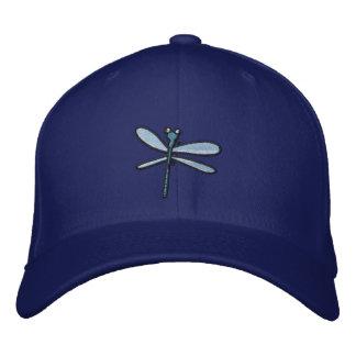 Dragonfly (black outline) embroidered hat