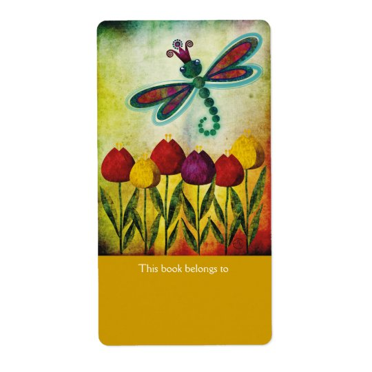 Dragonfly Bookplates Labels