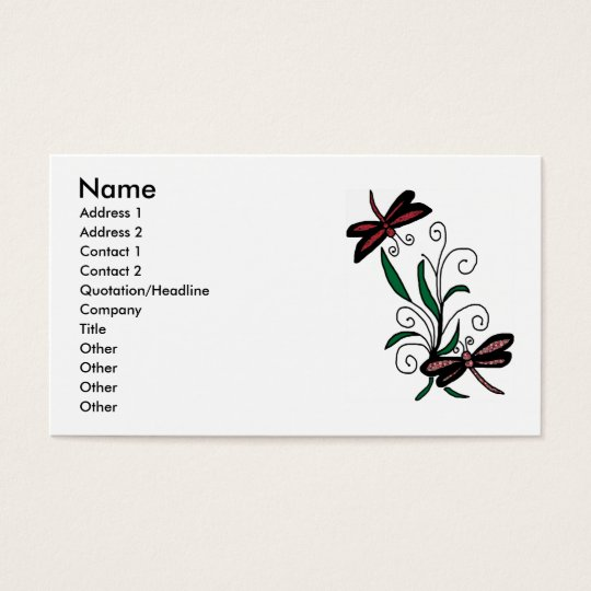 Dragonfly Bouquet business cards