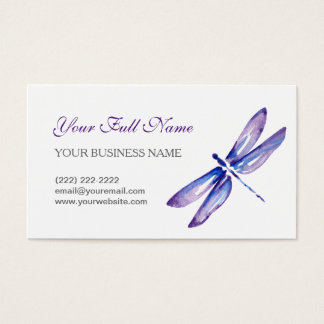 Dragonfly Business Cards - Custom Watercolor Card