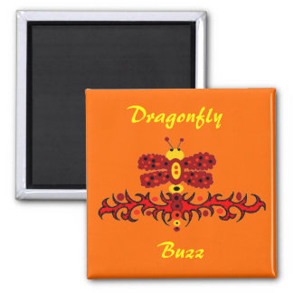 Dragonfly buzz magnet