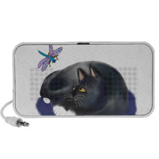 Dragonfly Buzzes a Resting Cat Travelling Speakers