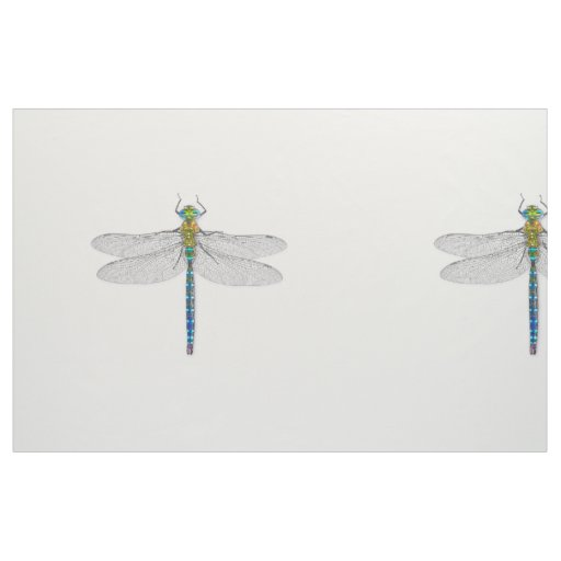 Dragonfly—choose colour background! fabric