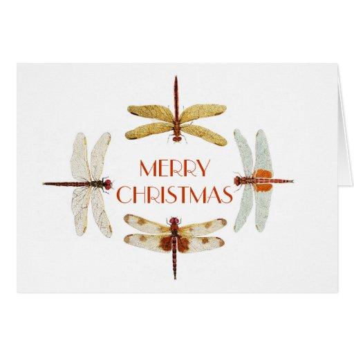 Dragonfly Christmas Card