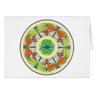 dragonfly circle greeting card