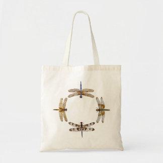 Dragonfly Circle Tote Bag