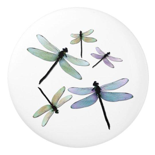 Dragonfly Cluster Ceramic Knob
