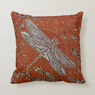 Dragonfly Coffee Reversible Pillow by Sharles