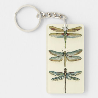Dragonfly Collection by Chariklia Zarris Double-Sided Rectangular Acrylic Key Ring