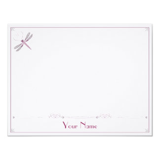 Dragonfly Correspondence Cards 11 Cm X 14 Cm Invitation Card
