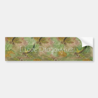 Dragonfly Cotton Candy Bumper Sticker