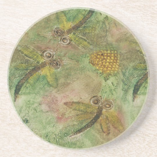 Dragonfly Cotton Candy Drink Coaster