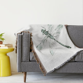 Dragonfly cover throw blanket