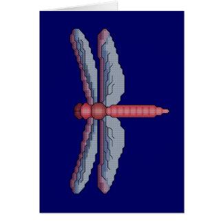 Dragonfly Cross Stitch Card