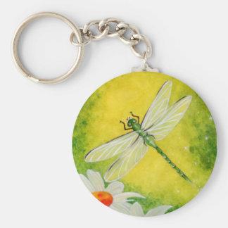 Dragonfly Daisy Keychain