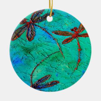 Dragonfly Dance Christmas Ornament