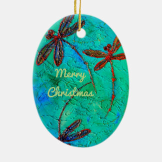 Dragonfly Dance Christmas Ornament
