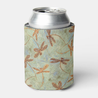 Dragonfly Dance Gold Can Cooler
