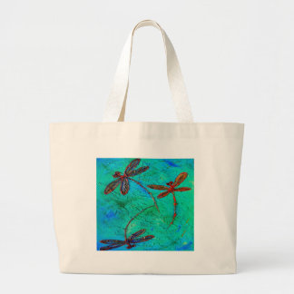 Dragonfly Dance Large Tote Bag